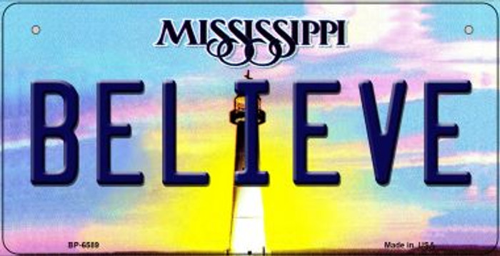 Believe Mississippi Wholesale Novelty Metal Bicycle Plate BP-6589