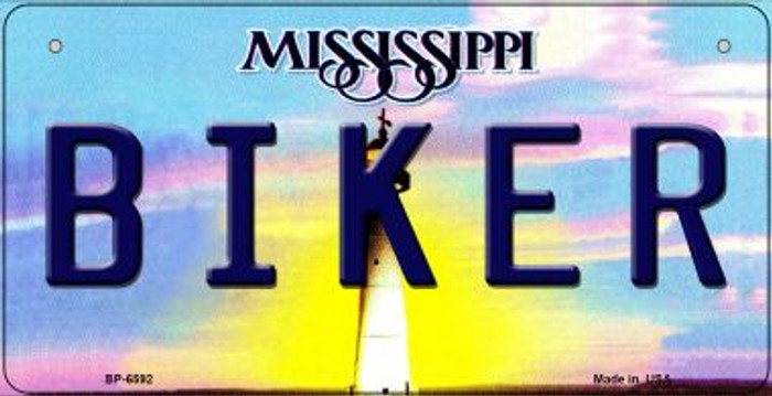Biker Mississippi Wholesale Novelty Metal Bicycle Plate BP-6592
