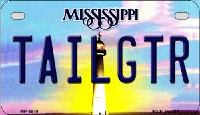 Tailgtr Mississippi Wholesale Novelty Metal Motorcycle Plate MP-6549