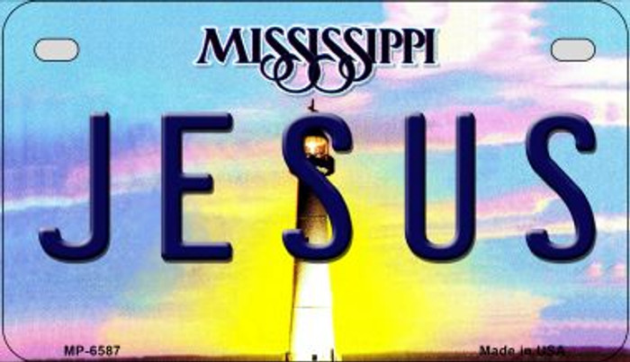Jesus Mississippi Wholesale Novelty Metal Motorcycle Plate MP-6587