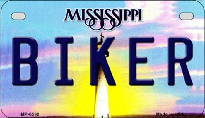 Biker Mississippi Wholesale Novelty Metal Motorcycle Plate MP-6592
