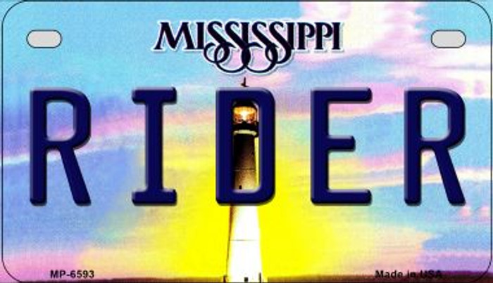 Rider Mississippi Wholesale Novelty Metal Motorcycle Plate MP-6593