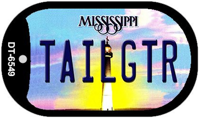 Tailgtr Mississippi Wholesale Novelty Metal Dog Tag Necklace DT-6549
