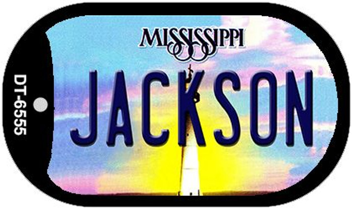 Jackson Mississippi Wholesale Novelty Metal Dog Tag Necklace DT-6555