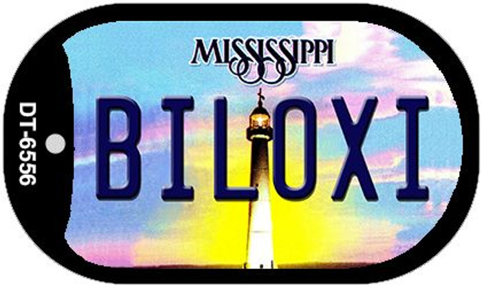 Biloxi Mississippi Wholesale Novelty Metal Dog Tag Necklace DT-6556