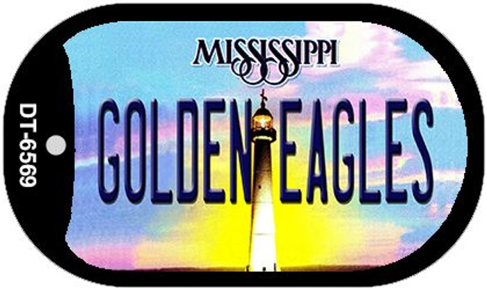 Golden Eagles Mississippi Wholesale Novelty Metal Dog Tag Necklace DT-6569