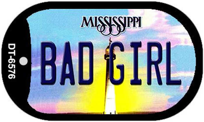 Bad Girl Mississippi Wholesale Novelty Metal Dog Tag Necklace DT-6576