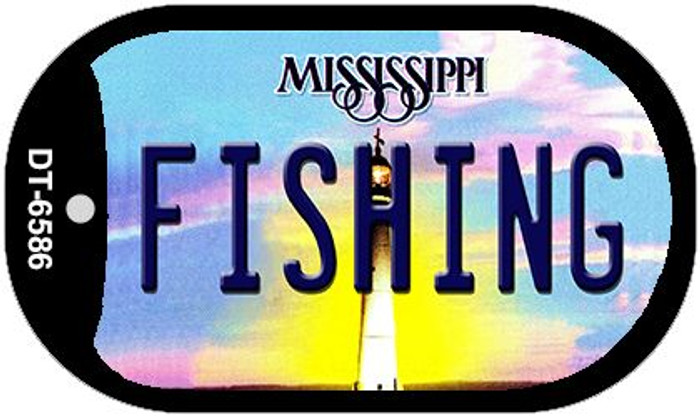 Fishing Mississippi Wholesale Novelty Metal Dog Tag Necklace DT-6586