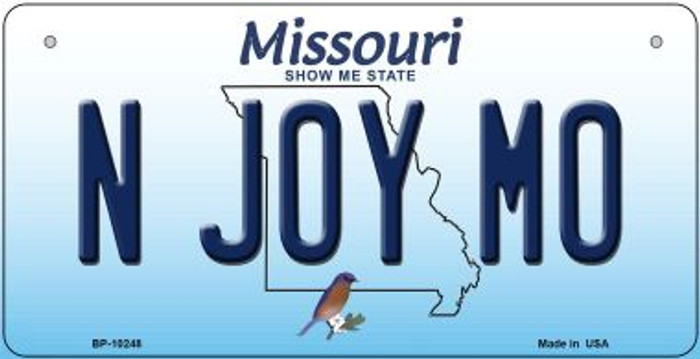 N Joy MO Missouri Wholesale Novelty Metal Bicycle Plate BP-10248