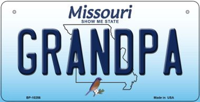 Grandpa Missouri Wholesale Novelty Metal Bicycle Plate BP-10256