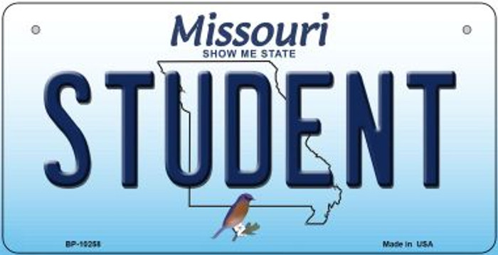 Student Missouri Wholesale Novelty Metal Bicycle Plate BP-10258