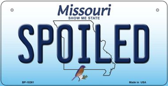 Spoiled Missouri Wholesale Novelty Metal Bicycle Plate BP-10261