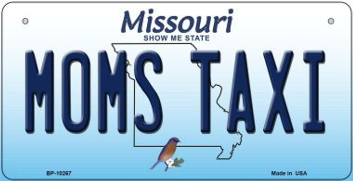 Moms Taxi Missouri Wholesale Novelty Metal Bicycle Plate BP-10267