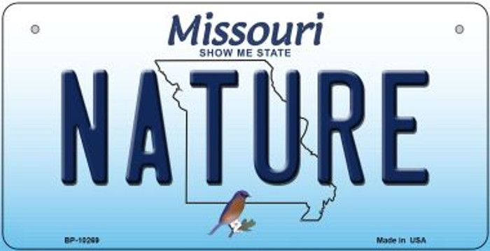 Nature Missouri Wholesale Novelty Metal Bicycle Plate BP-10269