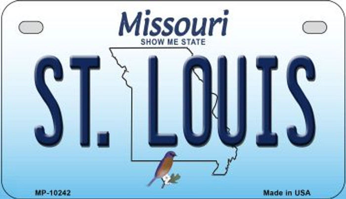 St. Louis Missouri Wholesale Novelty Metal Motorcycle Plate MP-10242