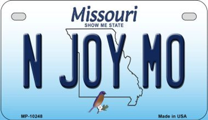 N Joy MO Missouri Wholesale Novelty Metal Motorcycle Plate MP-10248