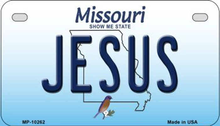 Jesus Missouri Wholesale Novelty Metal Motorcycle Plate MP-10262