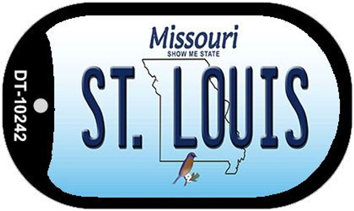 St. Louis Missouri Wholesale Novelty Metal Dog Tag Necklace DT-10242