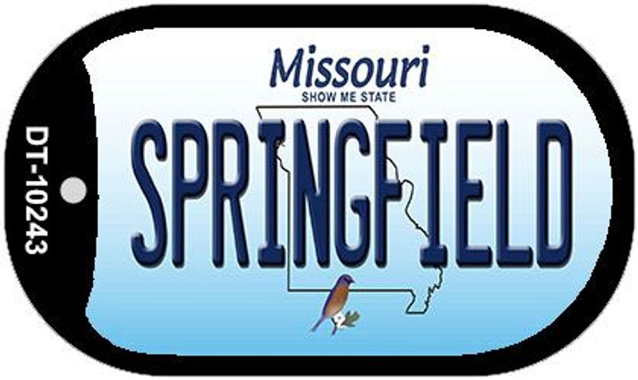 Springfield Missouri Wholesale Novelty Metal Dog Tag Necklace DT-10243