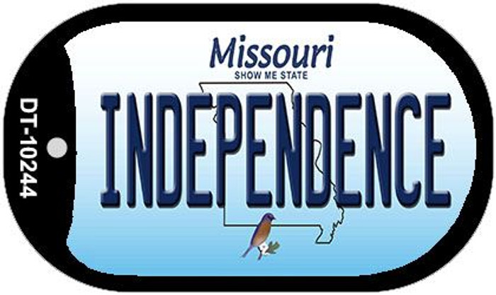 Independence Missouri Wholesale Novelty Metal Dog Tag Necklace DT-10244