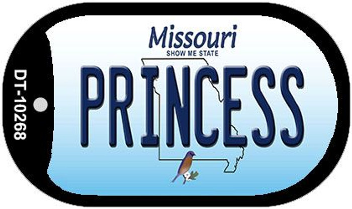 Princess Missouri Wholesale Novelty Metal Dog Tag Necklace DT-10268