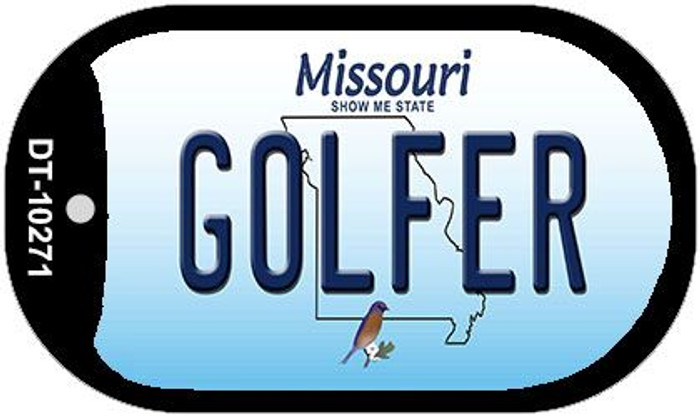 Golfer Missouri Wholesale Novelty Metal Dog Tag Necklace DT-10271