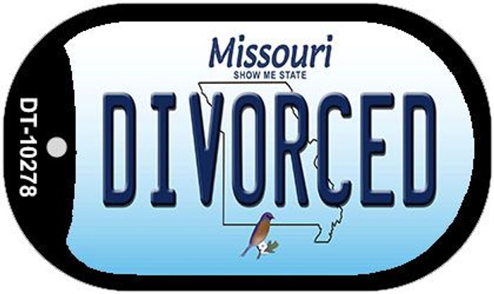 Divorced Missouri Wholesale Novelty Metal Dog Tag Necklace DT-10278
