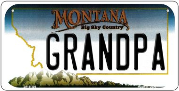 Grandpa Montana Wholesale Novelty Metal Bicycle Plate BP-11104