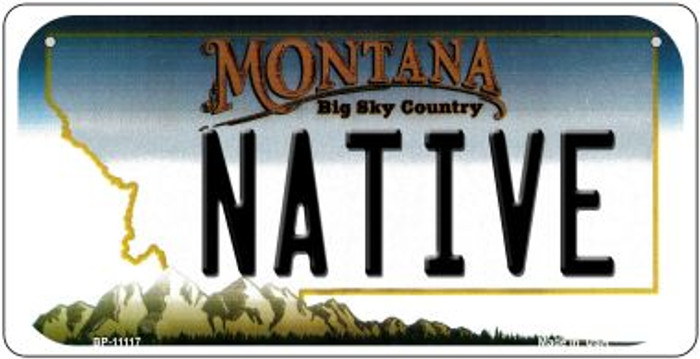 Native Montana Wholesale Novelty Metal Bicycle Plate BP-11117