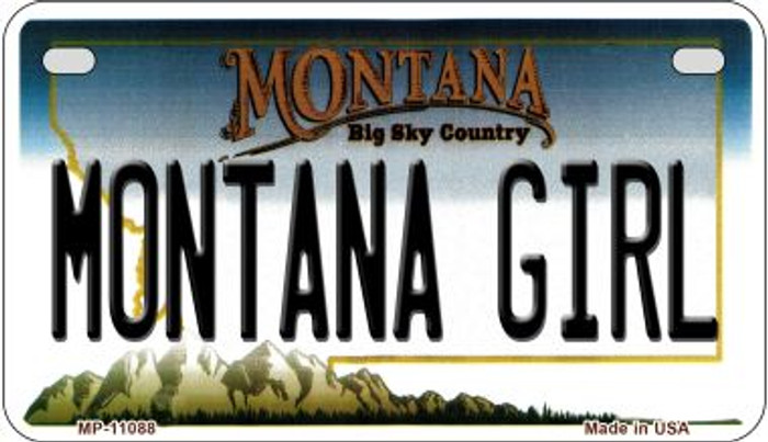 Montana Girl Wholesale Novelty Metal Motorcycle Plate MP-11088