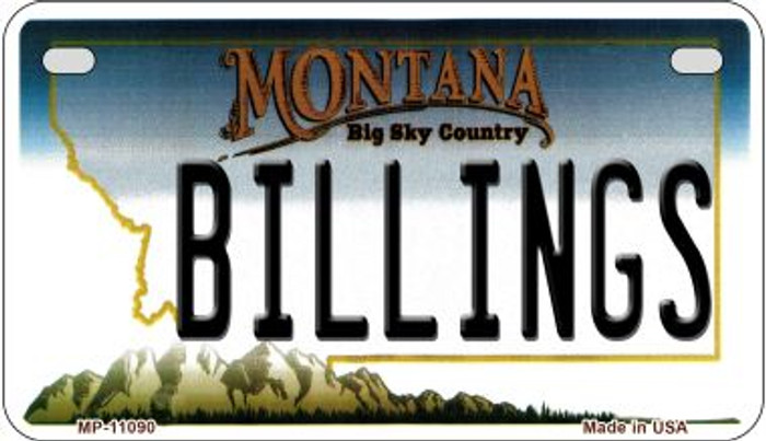 Billings Montana Wholesale Novelty Metal Motorcycle Plate MP-11090