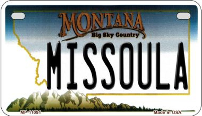 Missoula Montana Wholesale Novelty Metal Motorcycle Plate MP-11091