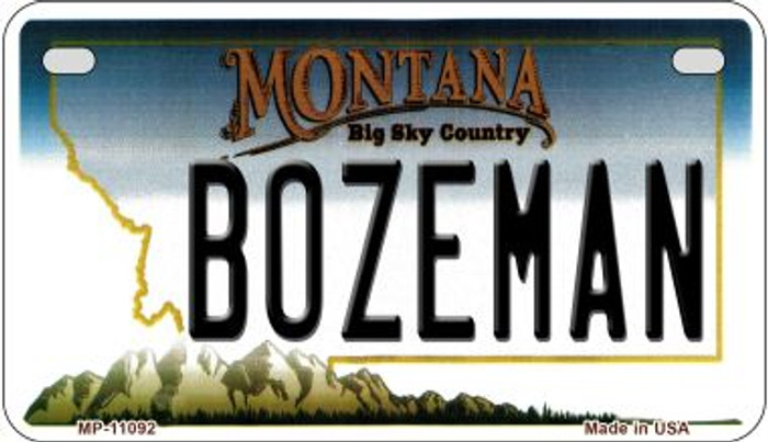 Bozeman Montana Wholesale Novelty Metal Motorcycle Plate MP-11092