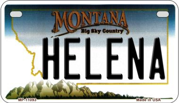 Helena Montana Wholesale Novelty Metal Motorcycle Plate MP-11093