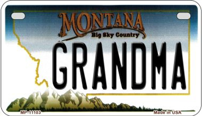 Grandma Montana Wholesale Novelty Metal Motorcycle Plate MP-11103