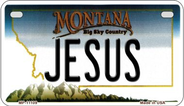 Jesus Montana Wholesale Novelty Metal Motorcycle Plate MP-11109
