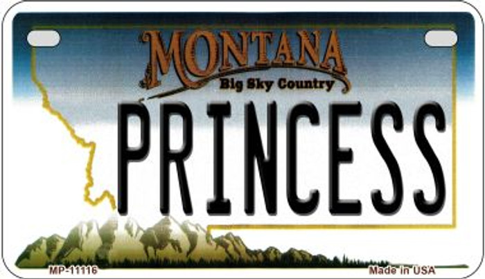 Princess Montana Wholesale Novelty Metal Motorcycle Plate MP-11116