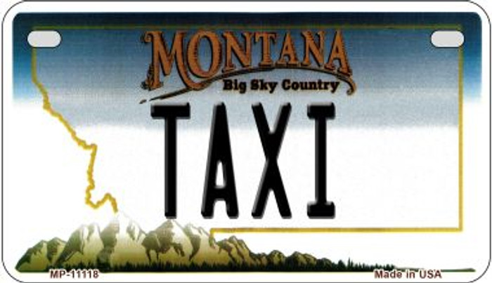 Taxi Montana Wholesale Novelty Metal Motorcycle Plate MP-11118