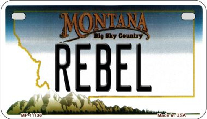 Rebel Montana Wholesale Novelty Metal Motorcycle Plate MP-11130