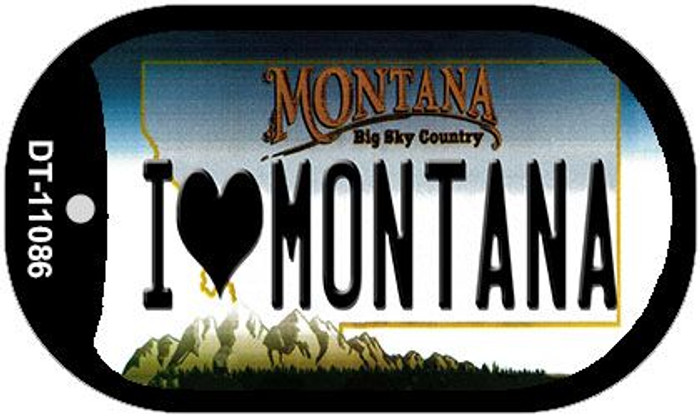 I Love Montana Wholesale Novelty Metal Dog Tag Necklace DT-11086