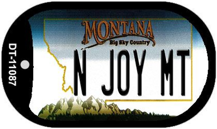 N Joy MT Montana Wholesale Novelty Metal Dog Tag Necklace DT-11087