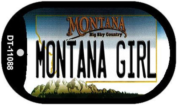 Montana Girl Wholesale Novelty Metal Dog Tag Necklace DT-11088