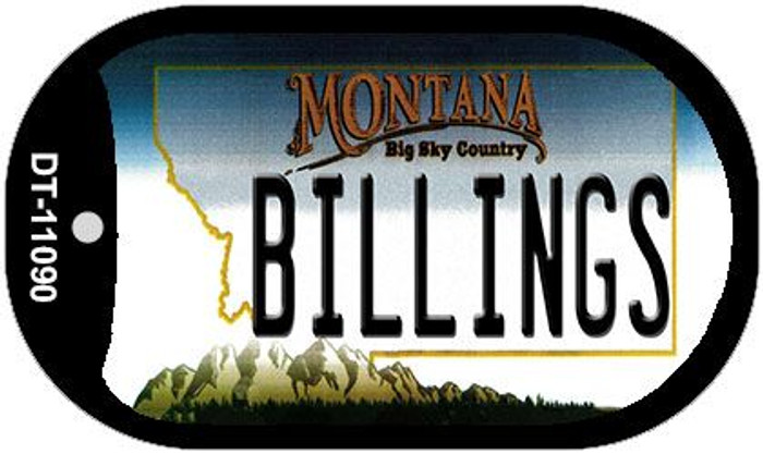 Billings Montana Wholesale Novelty Metal Dog Tag Necklace DT-11090