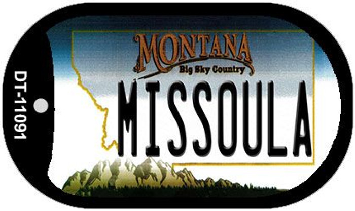 Missoula Montana Wholesale Novelty Metal Dog Tag Necklace DT-11091