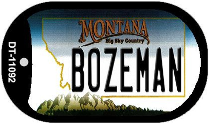 Bozeman Montana Wholesale Novelty Metal Dog Tag Necklace DT-11092