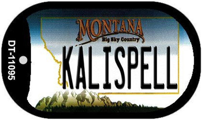 Kalispell Montana Wholesale Novelty Metal Dog Tag Necklace DT-11095