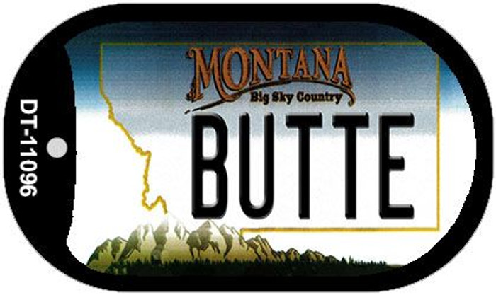 Butte Montana Wholesale Novelty Metal Dog Tag Necklace DT-11096