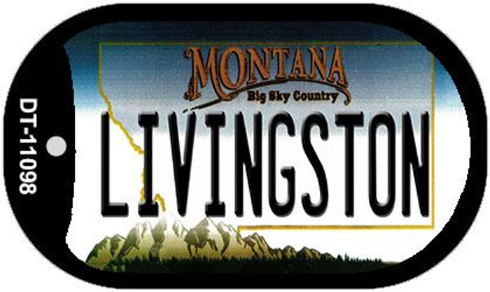 Livingston Montana Wholesale Novelty Metal Dog Tag Necklace DT-11098