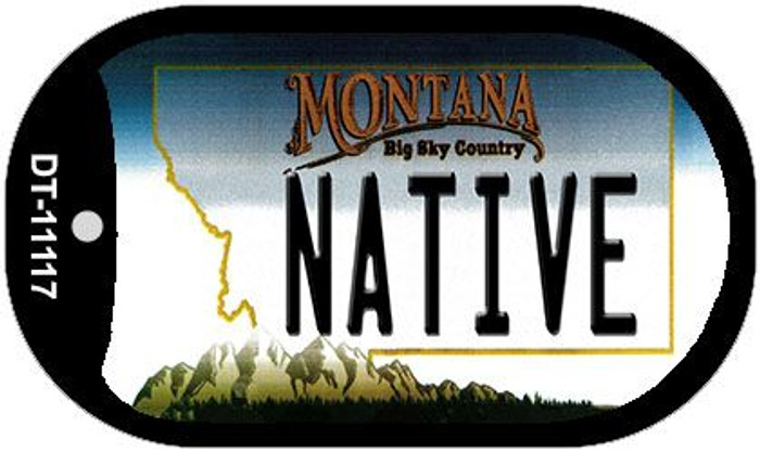 Native Montana Wholesale Novelty Metal Dog Tag Necklace DT-11117