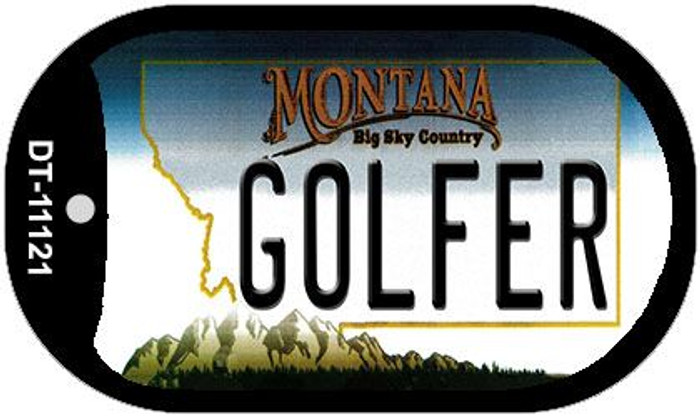 Golfer Montana Wholesale Novelty Metal Dog Tag Necklace DT-11121